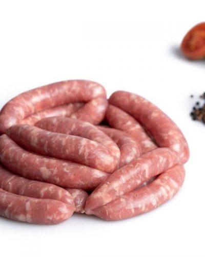 Raw botifarra 'sausage' format