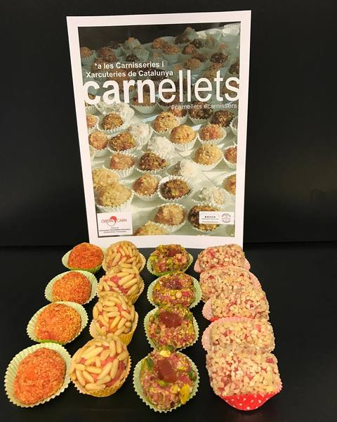 """""""Carnellets"""" de butifarra dulce."""