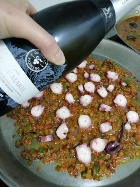 cava en el arroz con pulpo
