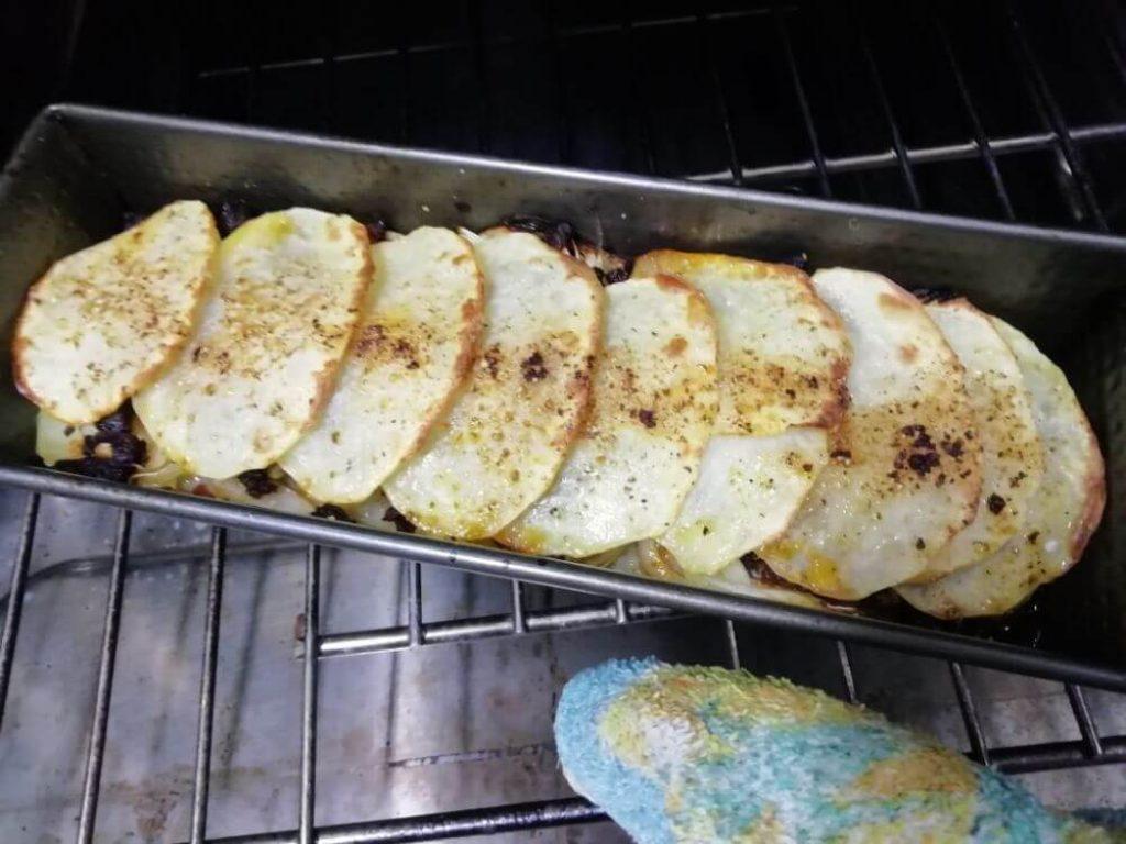 milhojas de patatas al horno