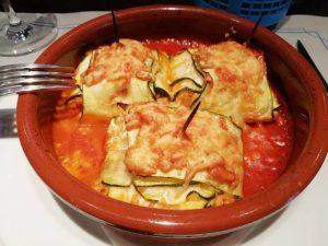receta de raviolis de calabacín con relleno de butifarra del Perol