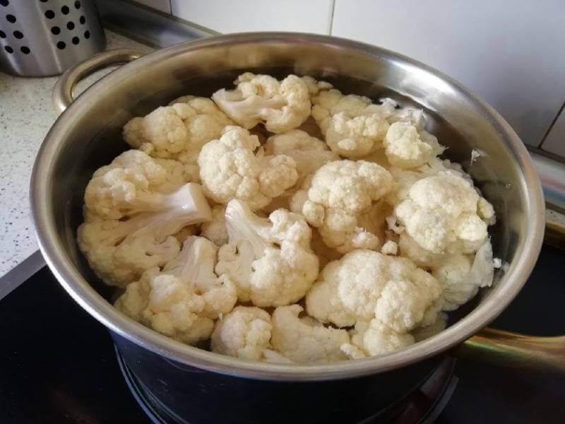 coliflor horno gratinada receta