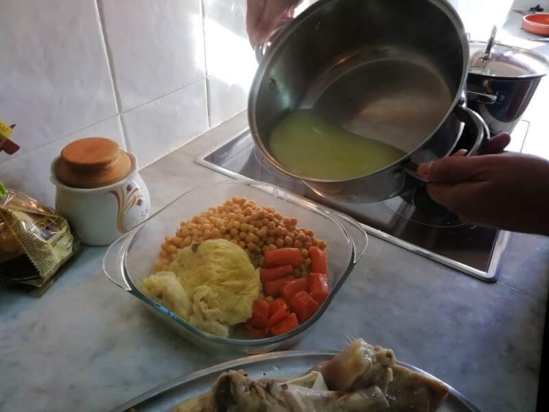 remojar las legumbres con caldo