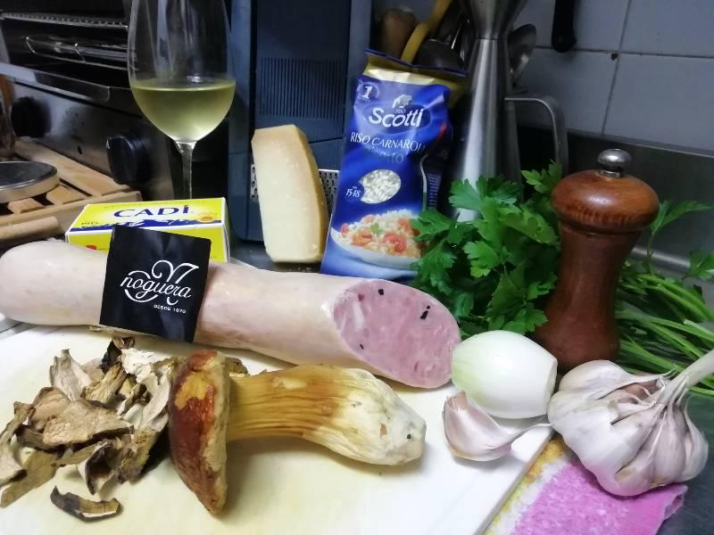ingredientes del risotto de setas